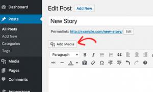 Edit Post Page